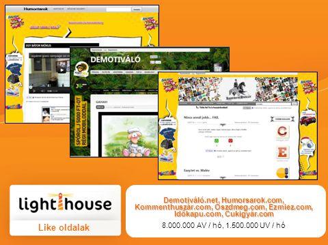 Demotiváló. net, Humorsarok. com, Kommenthuszár. com, Oszdmeg