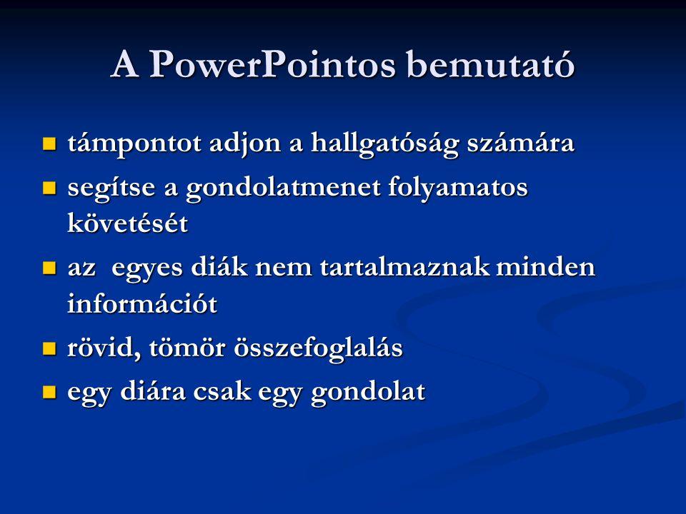 A PowerPointos bemutató
