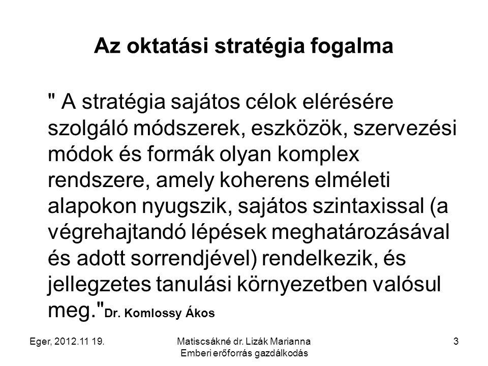 Az oktatási stratégia fogalma