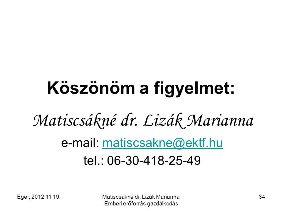 Matiscsákné dr. Lizák Marianna
