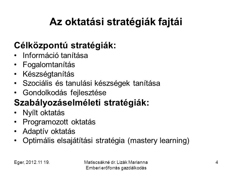 Az oktatási stratégiák fajtái