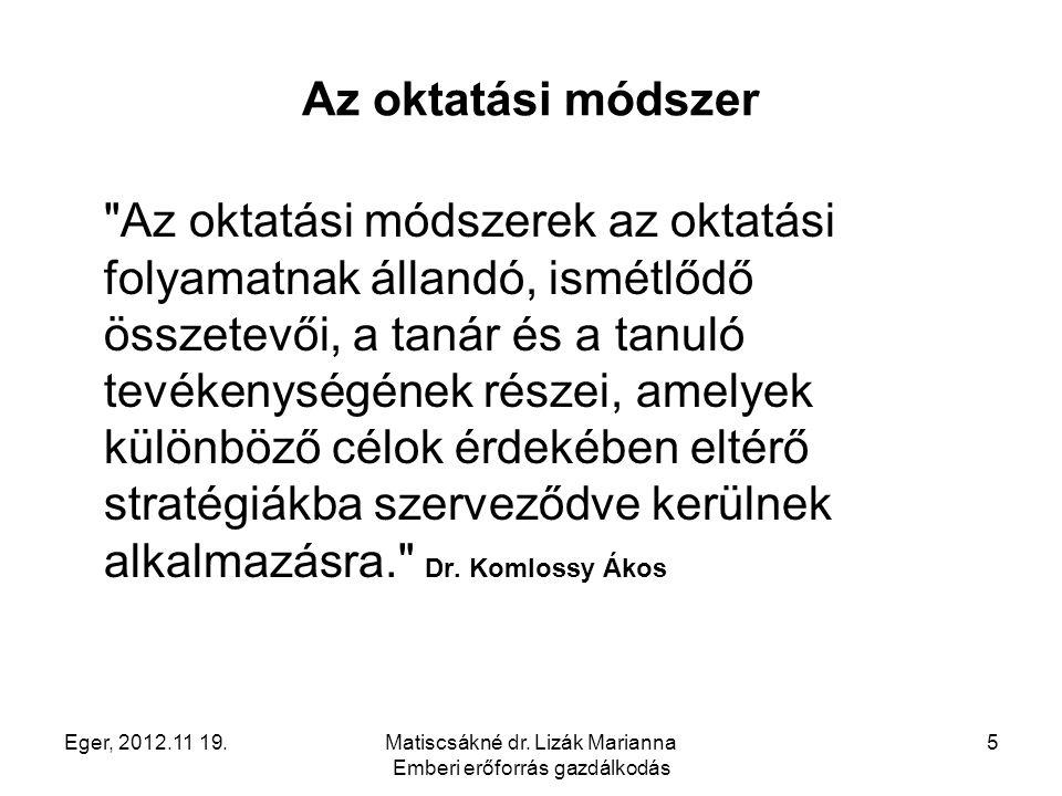 Matiscsákné dr. Lizák Marianna Emberi erőforrás gazdálkodás