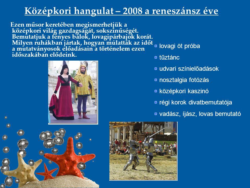 Középkori hangulat – 2008 a reneszánsz éve