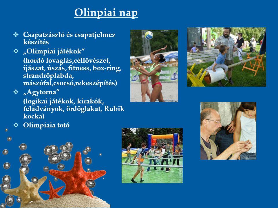 """Olinpiai nap Csapatzászló és csapatjelmez készítés """"Olimpiai játékok"""