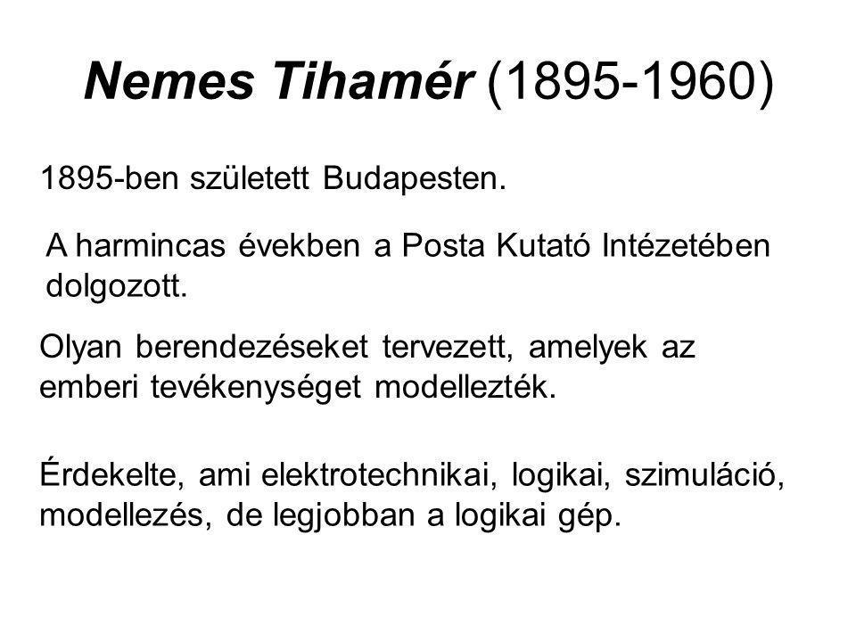 Nemes Tihamér (1895-1960) 1895-ben született Budapesten.