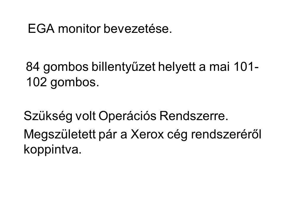 EGA monitor bevezetése.