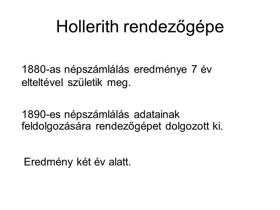 Hollerith rendezőgépe