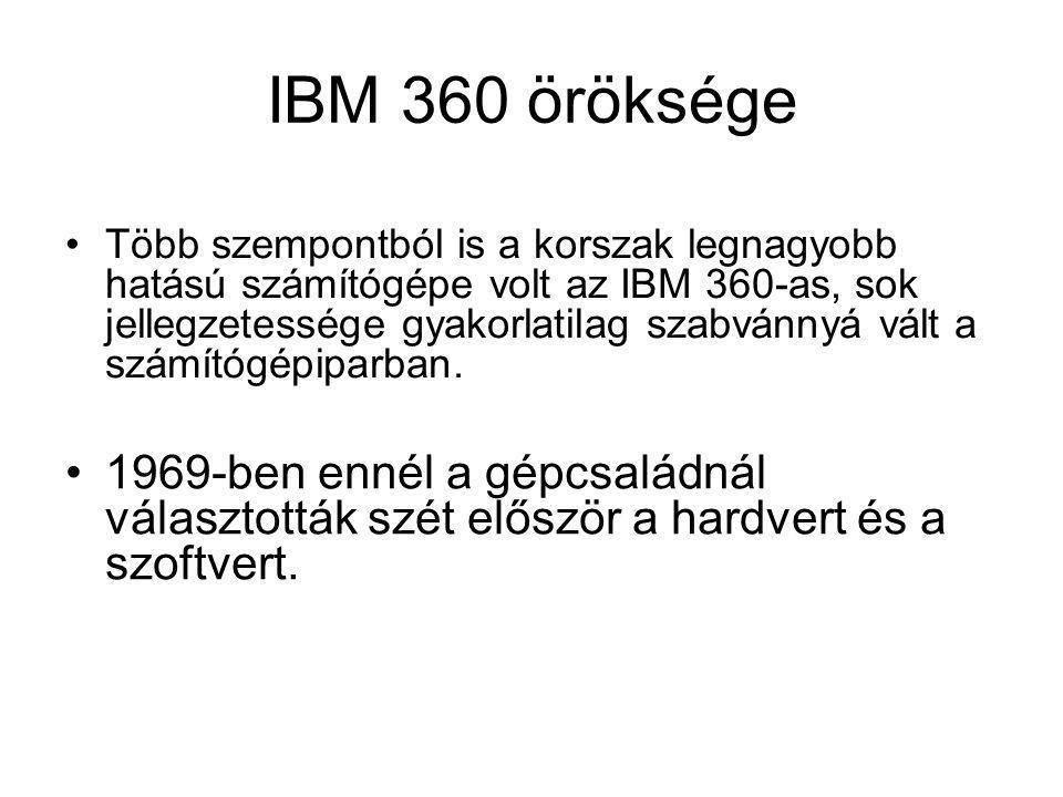 IBM 360 öröksége