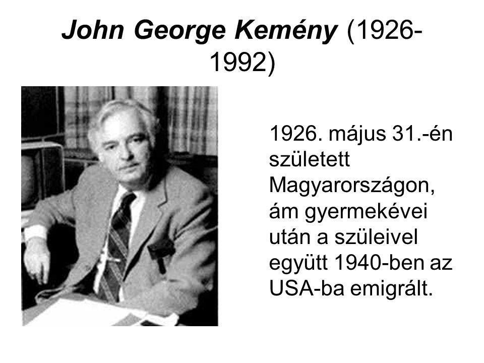 John George Kemény (1926-1992) 1926.