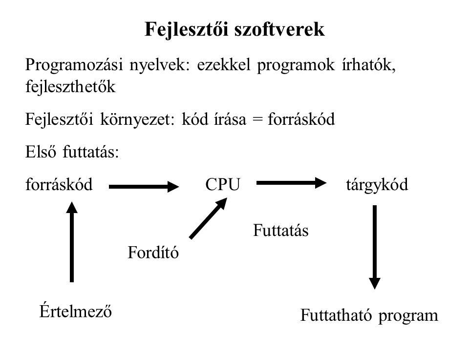 Fejlesztői szoftverek