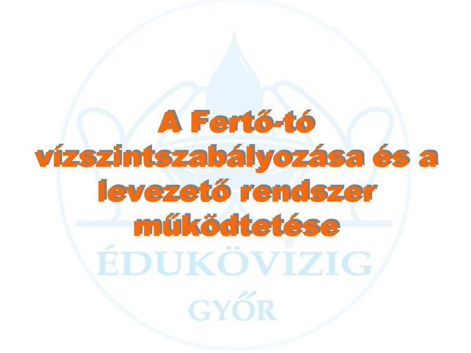 A Fertő-tó vízszintszabályozása és a levezető rendszer működtetése