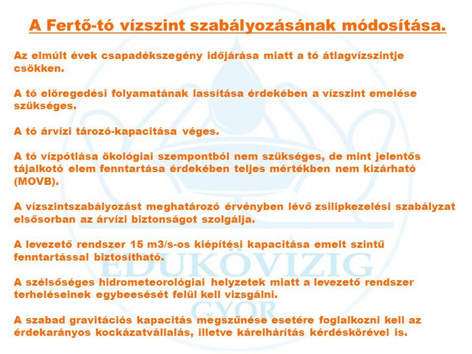 A Fertő-tó vízszint szabályozásának módosítása.
