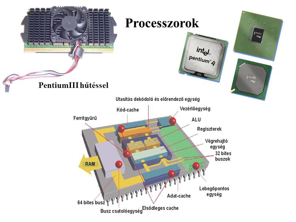 Processzorok PentiumIII hűtéssel