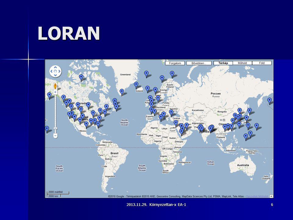 LORAN 2013.11.29. Környezettan-x EA-1