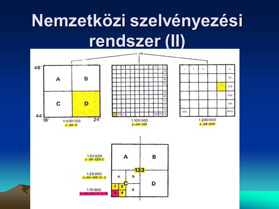 Nemzetközi szelvényezési rendszer (II)