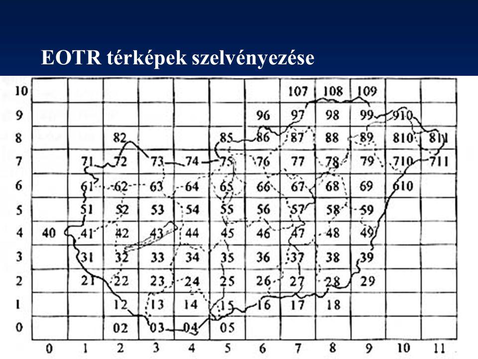 EOTR térképek szelvényezése
