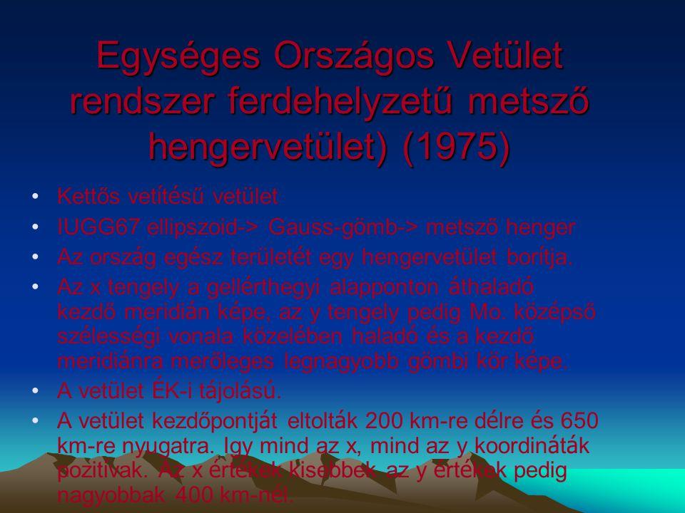 Egységes Országos Vetület rendszer ferdehelyzetű metsző hengervetület) (1975)