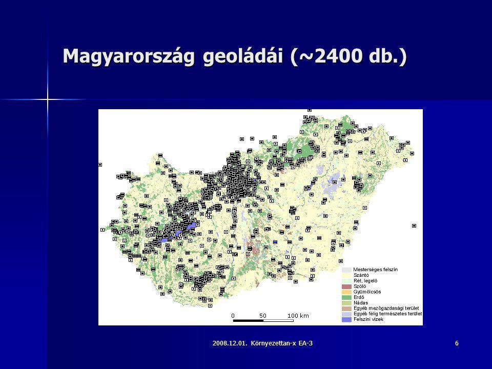 Magyarország geoládái (~2400 db.)