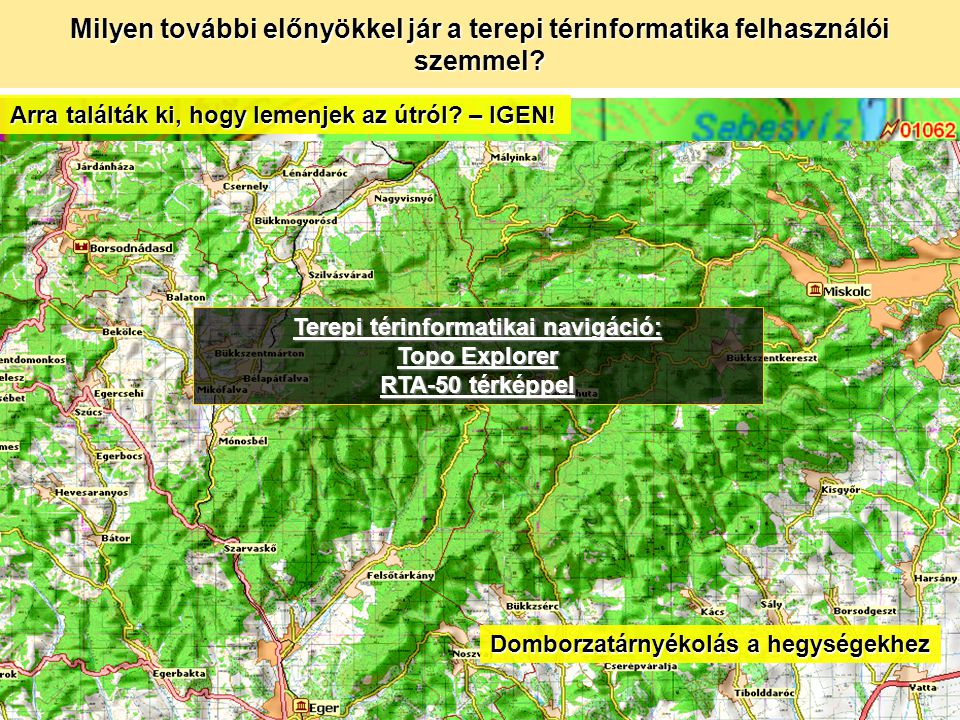Terepi térinformatikai navigáció: