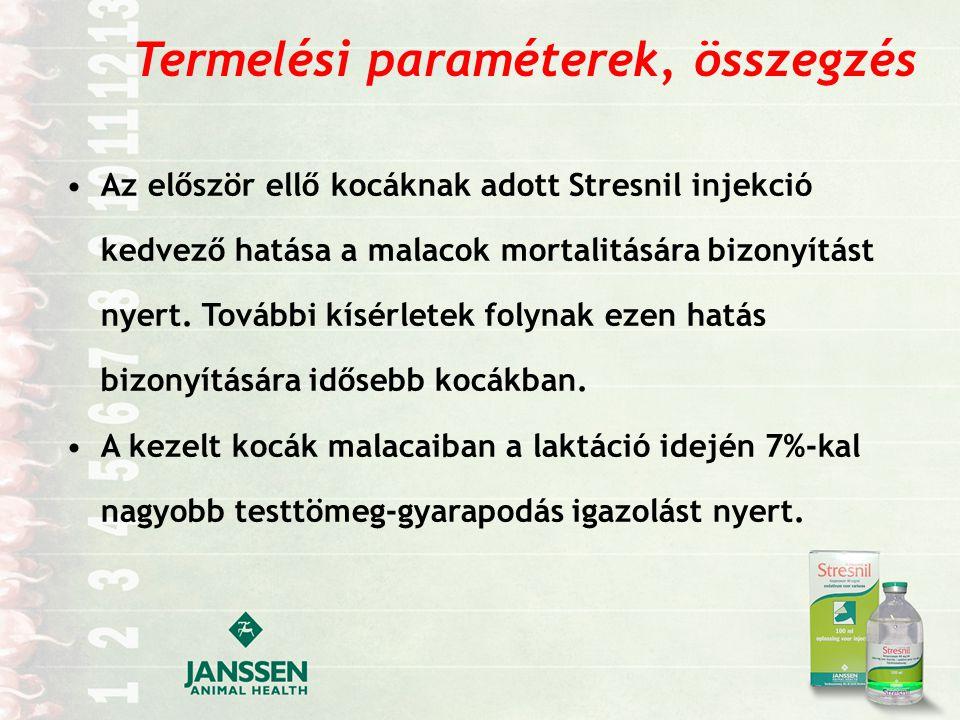 Termelési paraméterek, összegzés