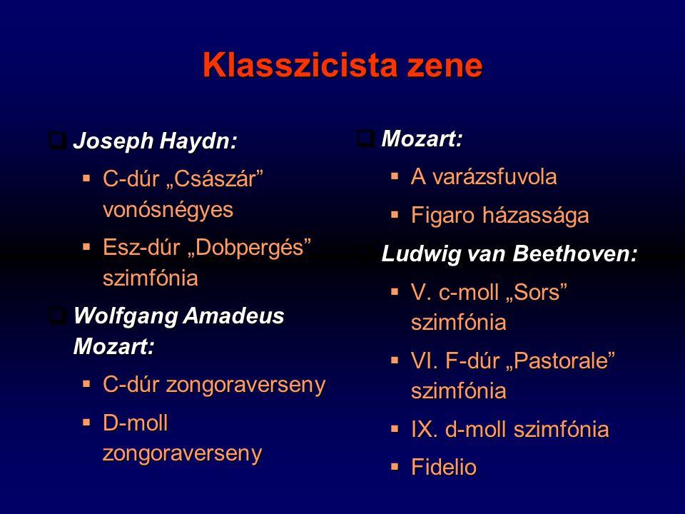 Klasszicista zene Joseph Haydn: Mozart: A varázsfuvola