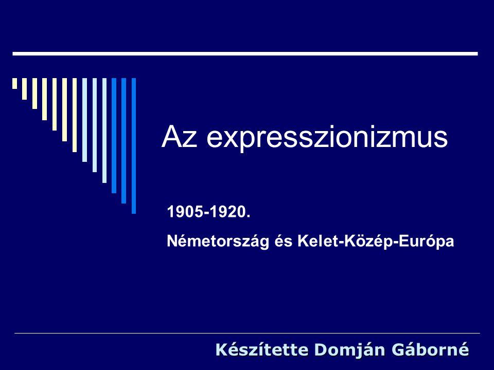 1905-1920. Németország és Kelet-Közép-Európa