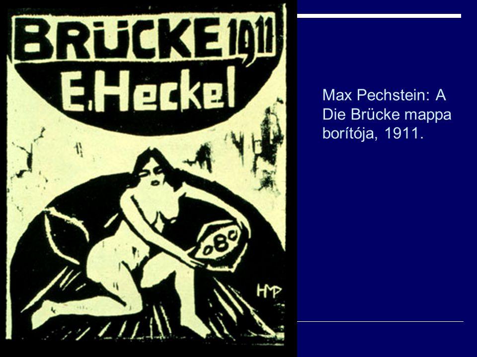 Max Pechstein: A Die Brücke mappa borítója, 1911.