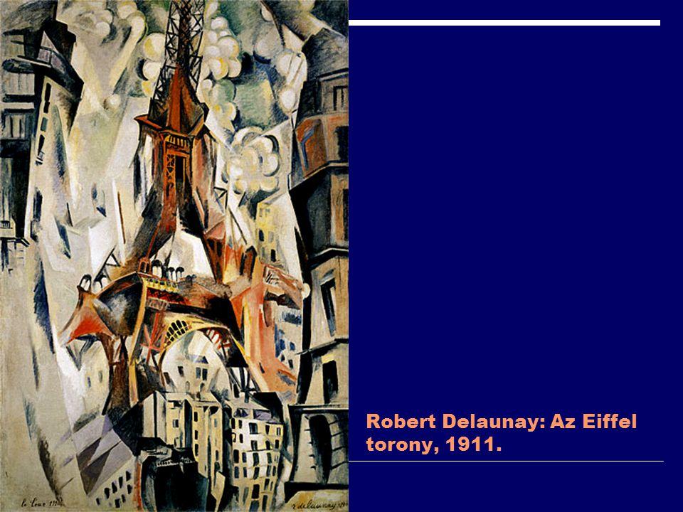 Robert Delaunay: Az Eiffel torony, 1911.