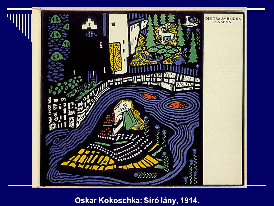 Oskar Kokoschka: Síró lány, 1914.