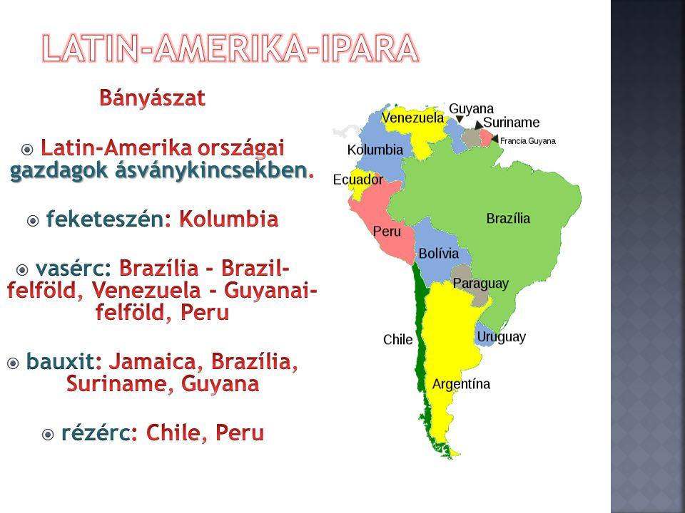 Latin-Amerika-ipara Bányászat