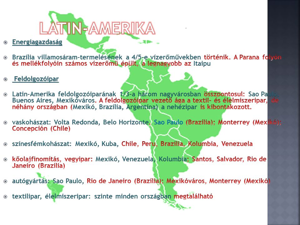 Latin-Amerika Energiagazdaság