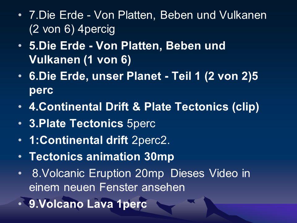 7.Die Erde - Von Platten, Beben und Vulkanen (2 von 6) 4percig