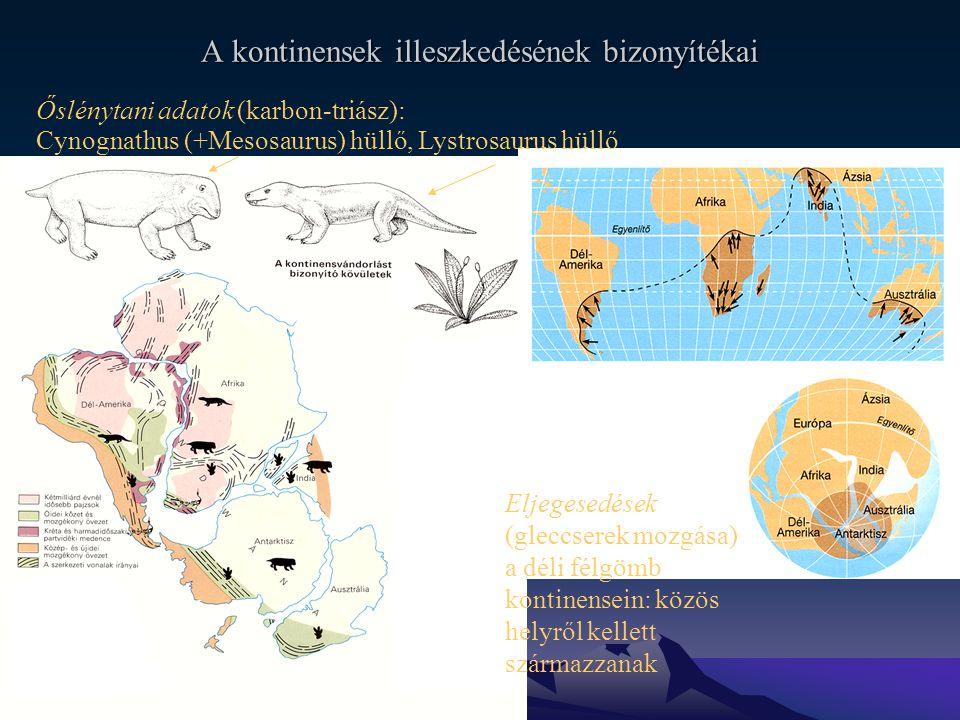 A kontinensek illeszkedésének bizonyítékai