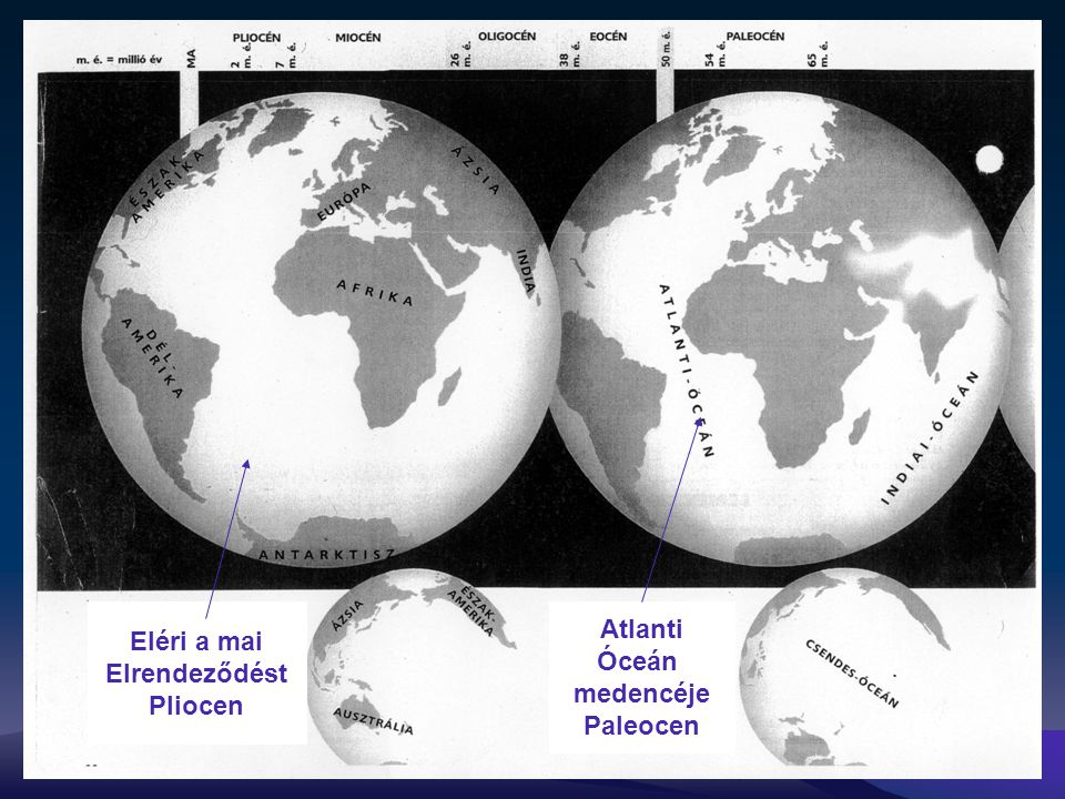Eléri a mai Elrendeződést Pliocen Atlanti Óceán medencéje Paleocen