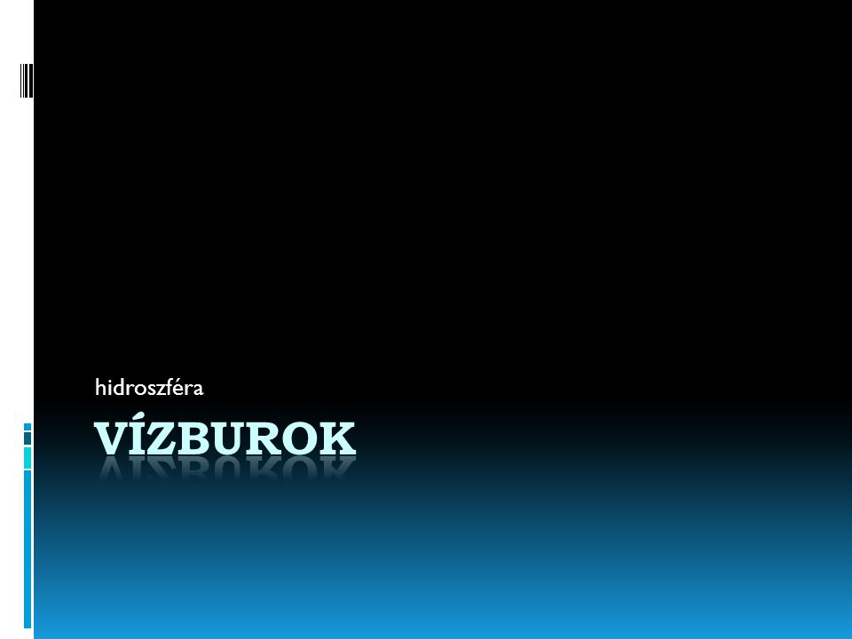 hidroszféra Vízburok