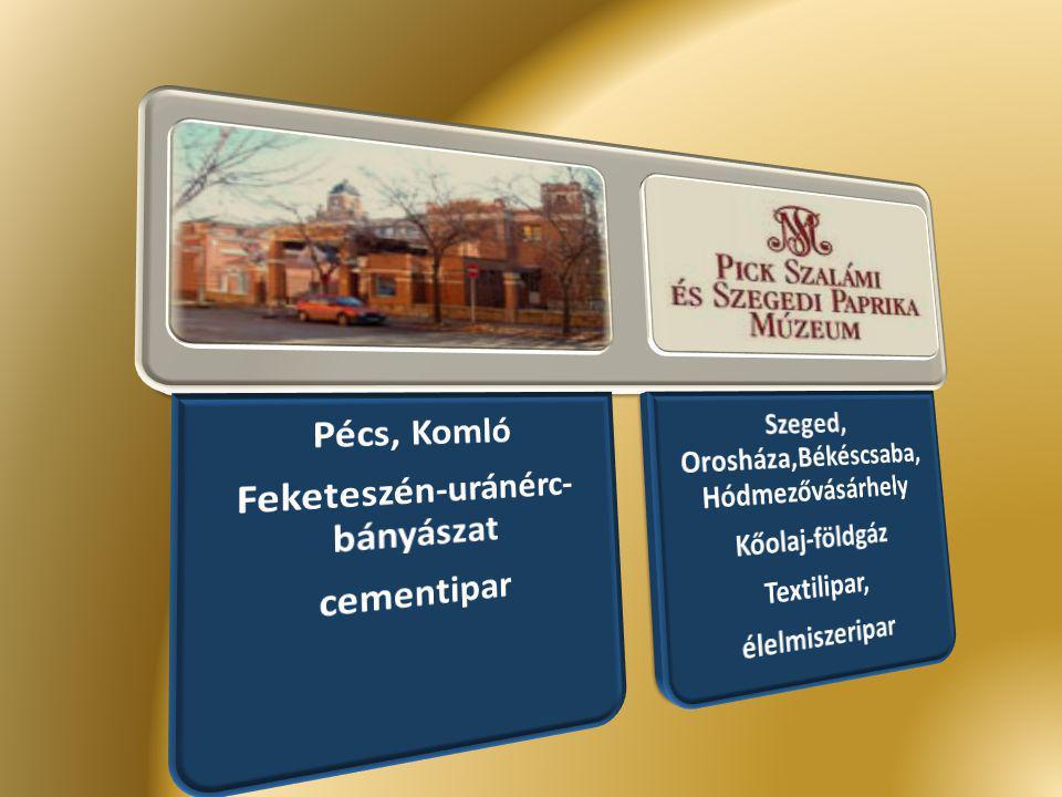 Feketeszén-uránérc-bányászat Pécs, Komló