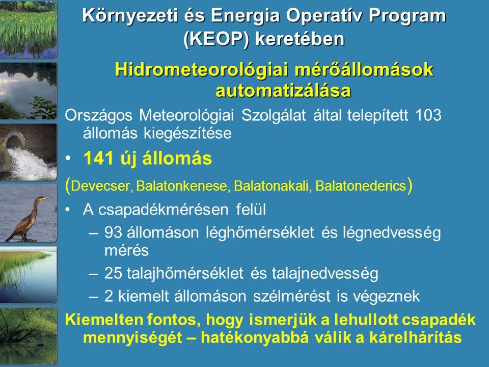 Környezeti és Energia Operatív Program (KEOP) keretében