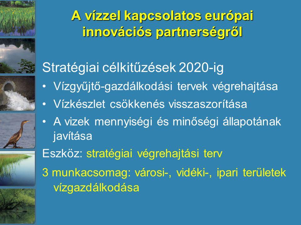 A vízzel kapcsolatos európai innovációs partnerségről
