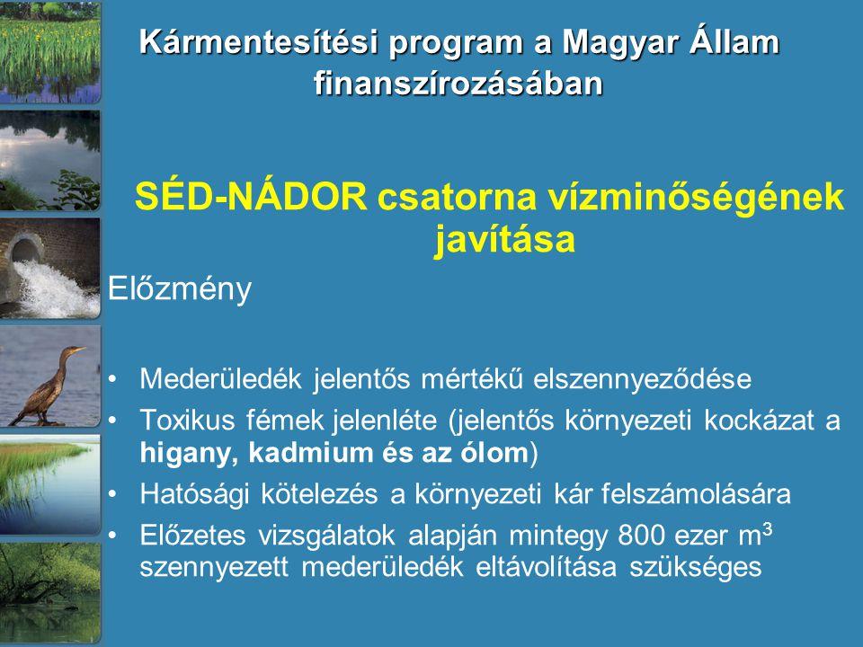 Kármentesítési program a Magyar Állam finanszírozásában