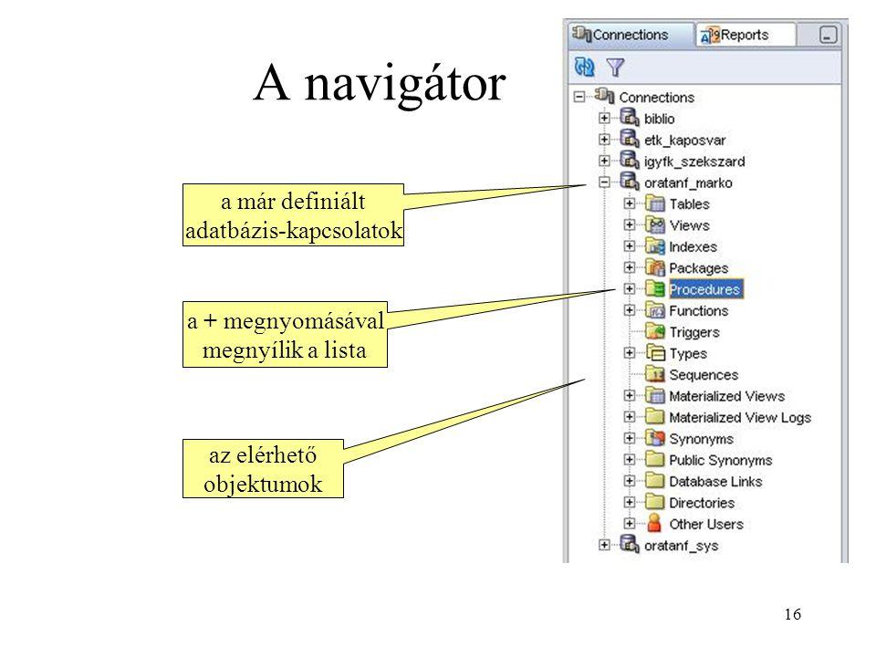 adatbázis-kapcsolatok