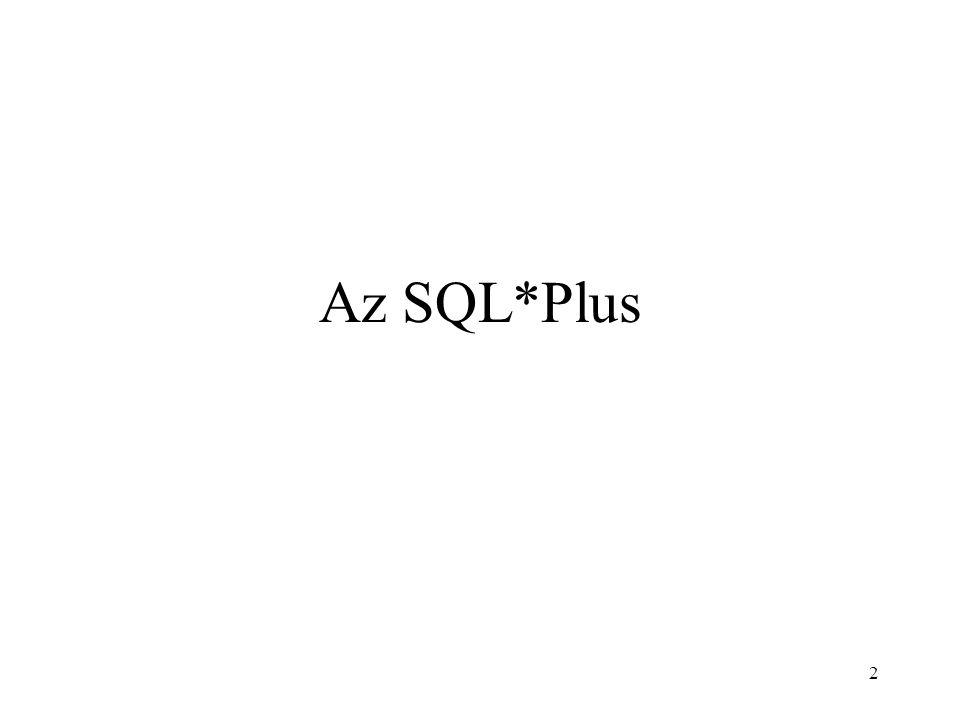 Az SQL*Plus