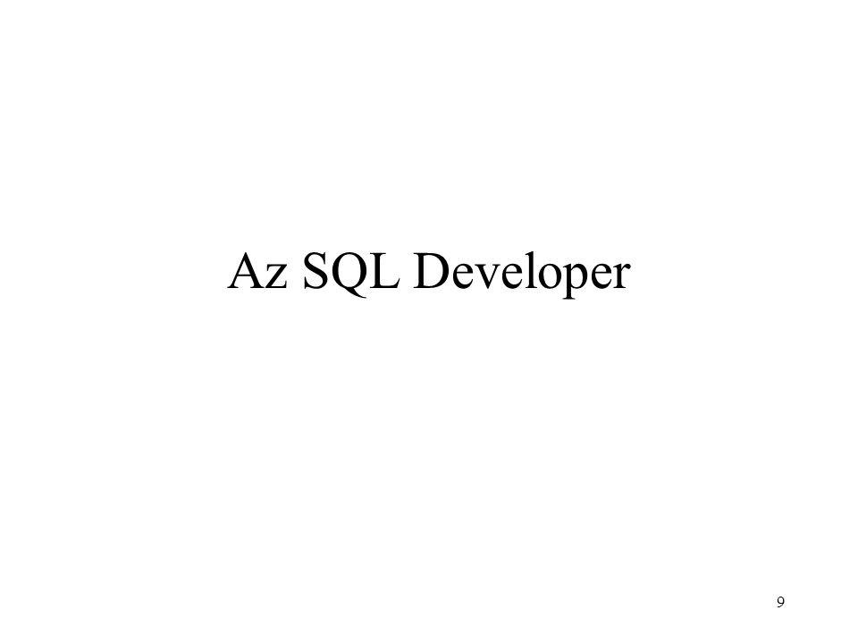 Az SQL Developer