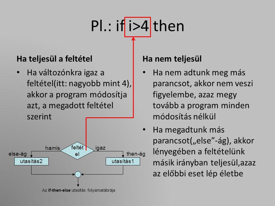 Az if-then-else utasítás folyamatábrája