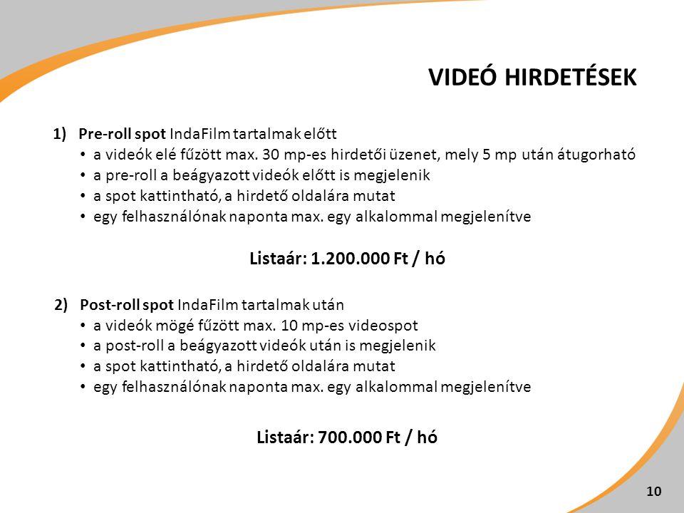 Videó hirdetések Listaár: 1.200.000 Ft / hó Listaár: 700.000 Ft / hó
