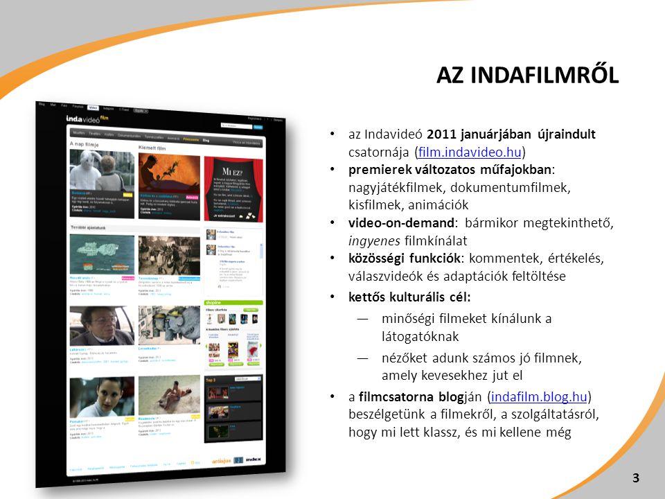 Az IndaFilmről az Indavideó 2011 januárjában újraindult csatornája (film.indavideo.hu)