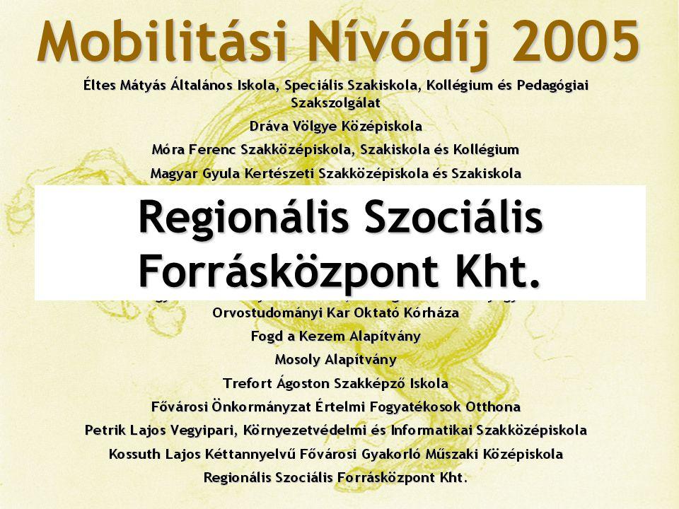 Regionális Szociális Forrásközpont Kht.
