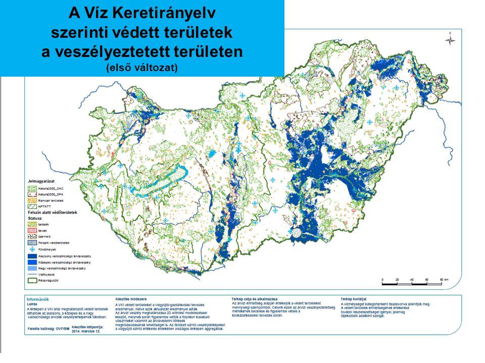szerinti védett területek a veszélyeztetett területen