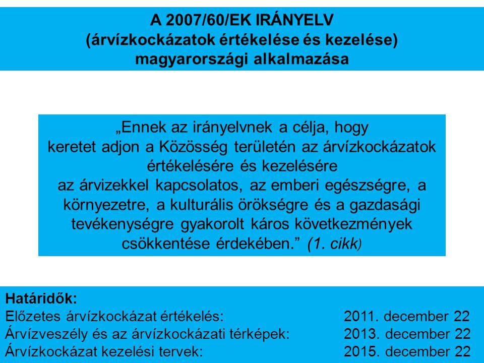 (árvízkockázatok értékelése és kezelése) magyarországi alkalmazása