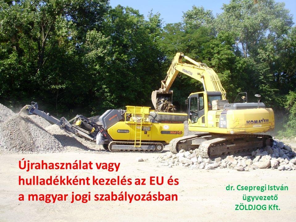 Újrahasználat vagy hulladékként kezelés az EU és a magyar jogi szabályozásban