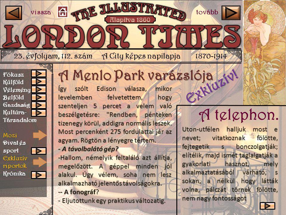 A telephon. A Menlo Park varázslója Exkluzív!